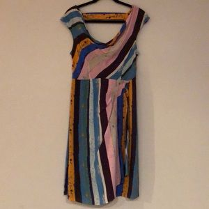 Multi-colored dress from Anthropologie.
